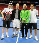 Tennis Legends Agassi, Sampras, McEnroe and Courier Compete at Champions Series Tennis