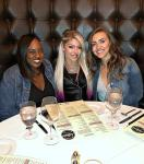 WWE Joylynn Johnson with Alexa Bliss and friend at Andiamo Las Vegas