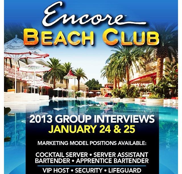Encore Beach Club Job Fair