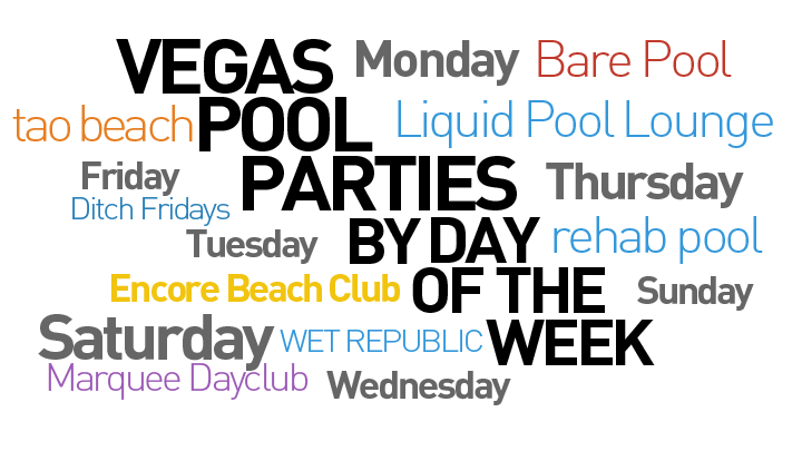 Vegas Pool Parties by Day of Week