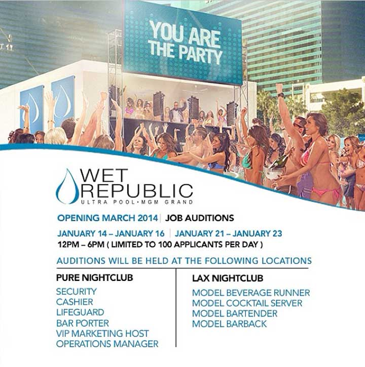Wet Republic Job Auditions
