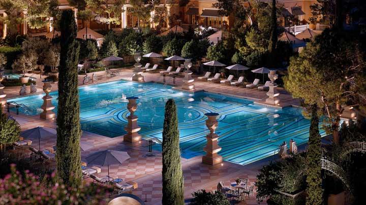 Bellagio pool Las Vegas