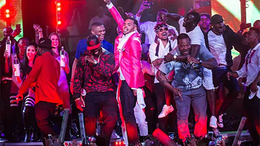 50 Cent Chris Brown Drai's MDW 2015 Vegas