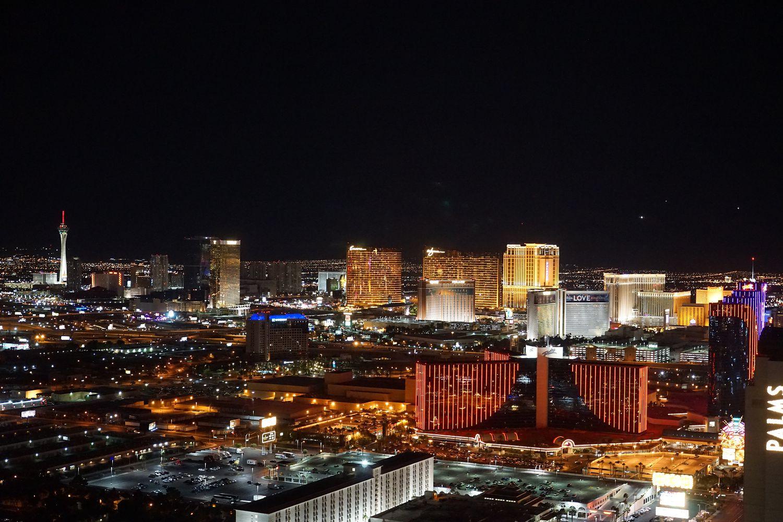 View on the Las Vegas Strip