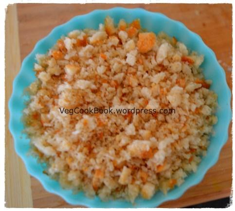 Bowl of Bread crumbs