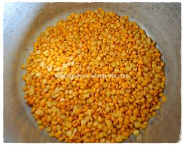 Toor Dal/Yellow Lentils taken in pressure cooker