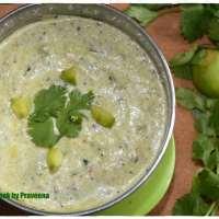 Mamidikaya Perugu Pachadi / Raw Mango Yogurt Dip
