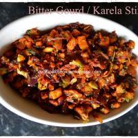 Kakarakaya Vepudu / Karela / Bitter-Gourd Stir Fry