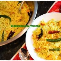 Mamidikaya Pulihora / Raw Mango Rice