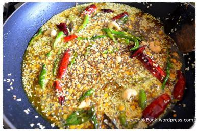 Temepered Ingredients in the frying pan