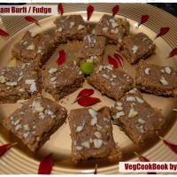 Oats - Badam Burfi / Oats - Almond Fudge