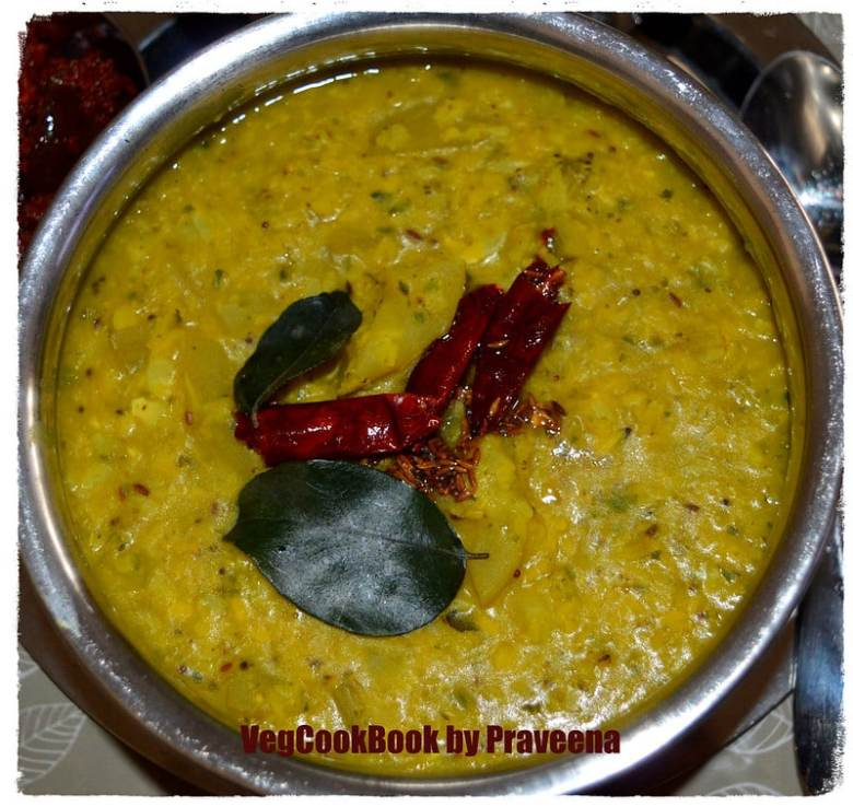 broccoli & squash dal / lentil curry / stew in Instant Pot electric pressure cooker or stove top