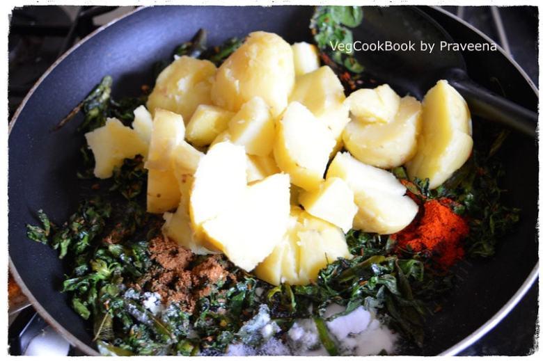 Aloo Methi Sabzi / Potato & Fenugreek Stir Fry