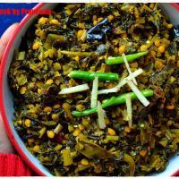 Chana-Saag Sukhi Sabzi / Mustard Greens / Kale & Lentils Stir Fry