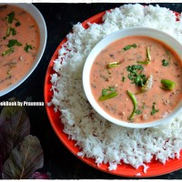Amaranth Leaves Buttermilk Soup / Thotakura Majjiga Pulusu