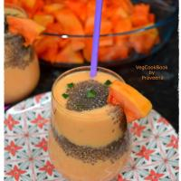Papaya & Chia Seeds Smoothie / Lassi