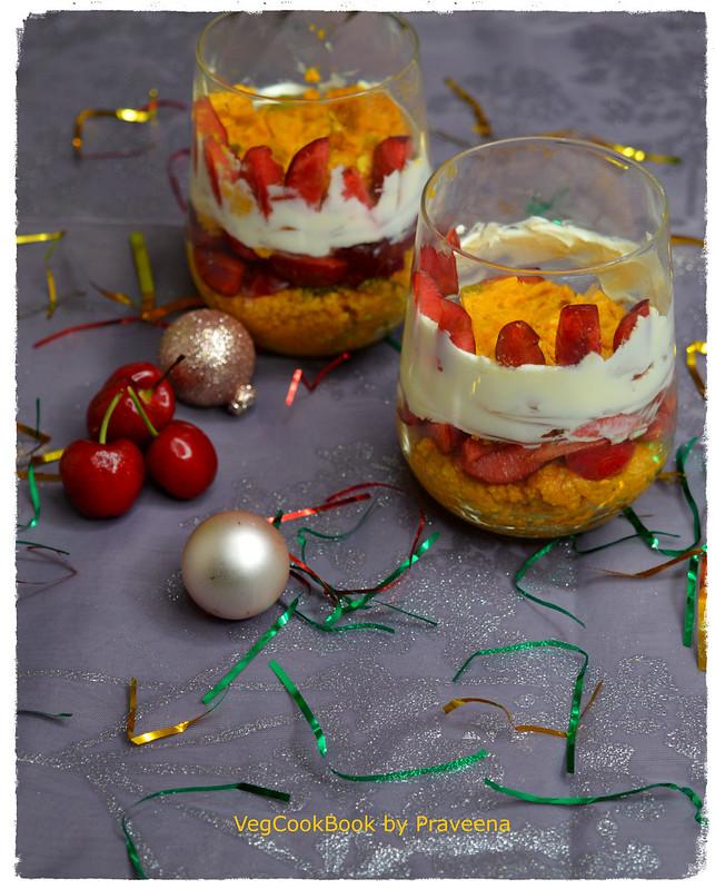mango kalakand dessert parfait