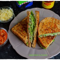 Vegan Mayo & Green Peas Spicy Sandwich