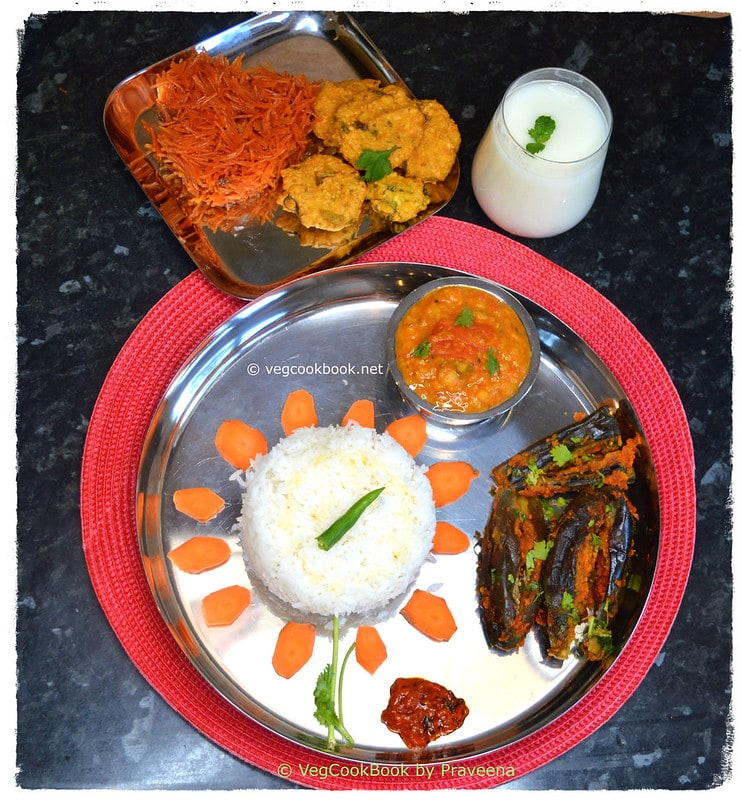South Indian Traditional Simple Meal Platter