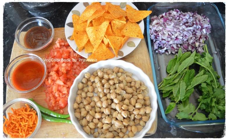 chana papdi chat with doritos