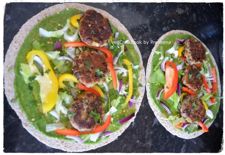 Vegan Bean Burrito Burger Wraps (dairy free, plant based, oil free, wfpb)