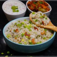 Spring Onion Pulao / Salad Onion Rice