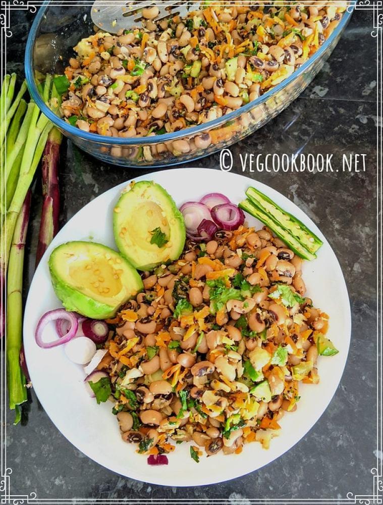 black-eyed beans salad / alasanda guggillu. plant based,protein rich, fiber rich, south indian andhra. Instant Pot pressure cooker recipe.