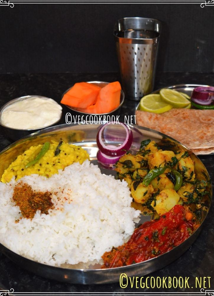 Homemade Indian style, Plant Based, Gluten Free meal platter including Plan, Tips, Recipes to follow. Uses both Instant Pot Pressure Cooker and Stove Top.