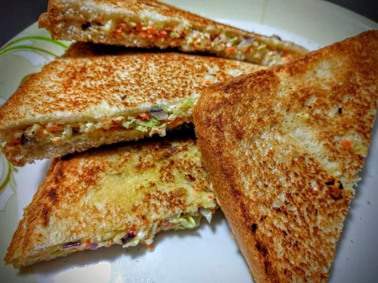 Vegetarian Grilled Cheese Sandwich Recipe