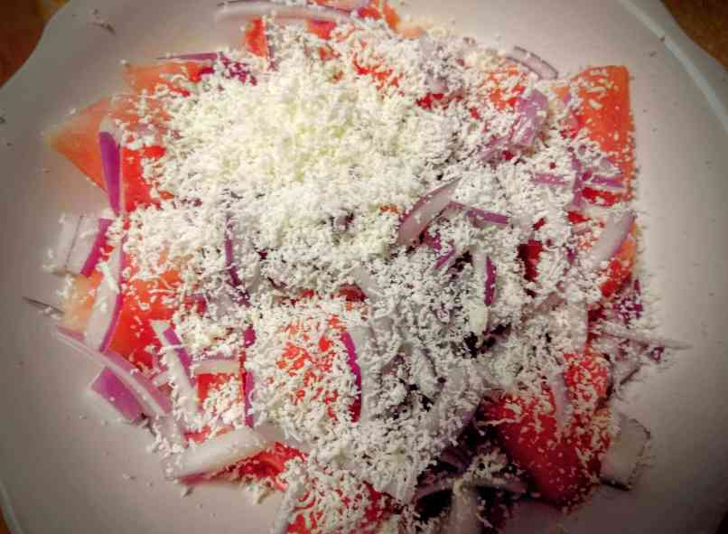 Watermelon Feta Salad Recipe Step By Step Instructions 3