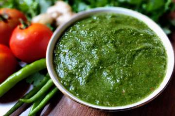 Coriander Tomato Chutney Recipe Step By Step Instructions