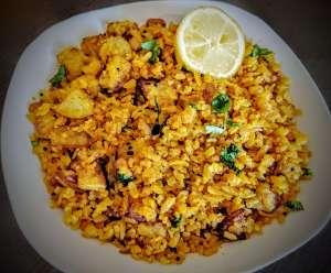 Aloo Poha | Kanda Batata Poha Recipe Step By Step Instructions