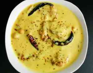 Punjabi Kadhi Pakora Recipe Step By Step Instructions