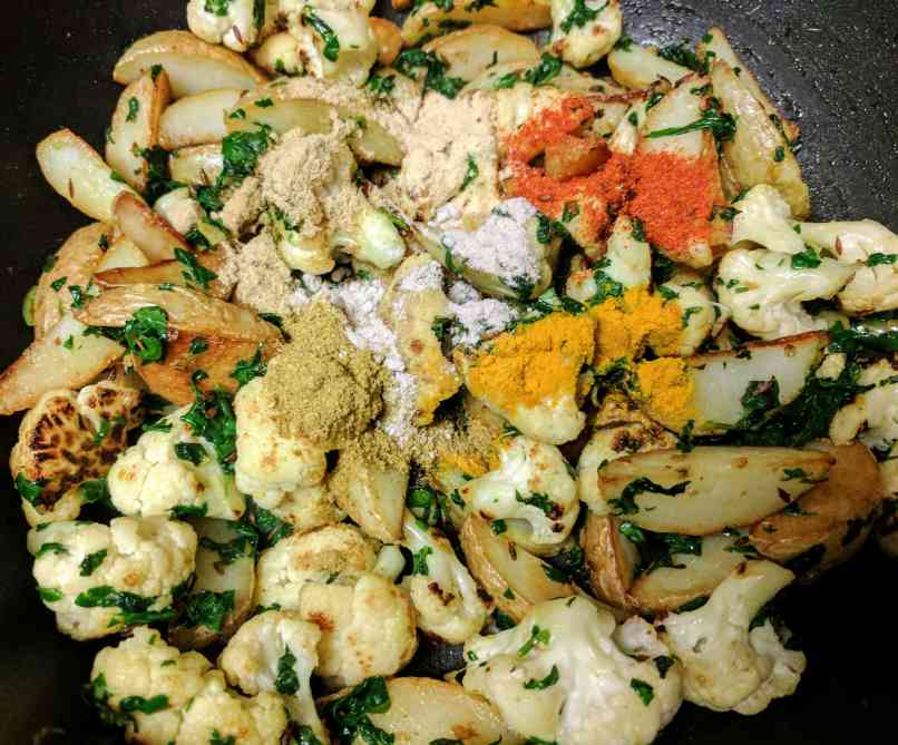 Aloo Gobi Methi Tuk Recipe Step By Step Instructions 9