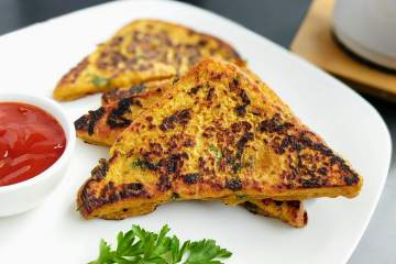 Besan Toast Recipe Step By Step Instructions