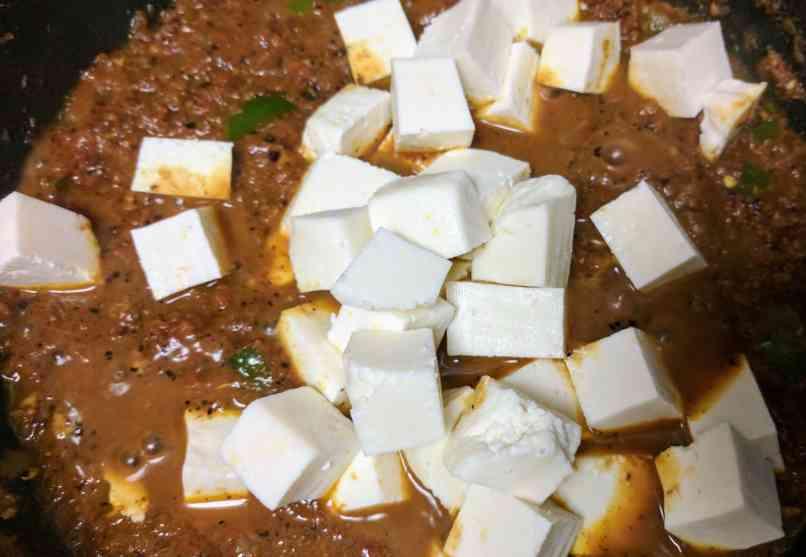 Kadai Paneer Dry Recipe Step By Step Instructions 11