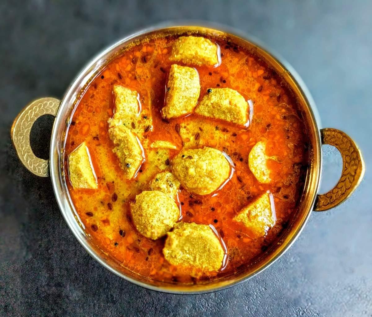 Gatte Ki Sabzi Recipe (Rajasthani Besan ke Gatte)
