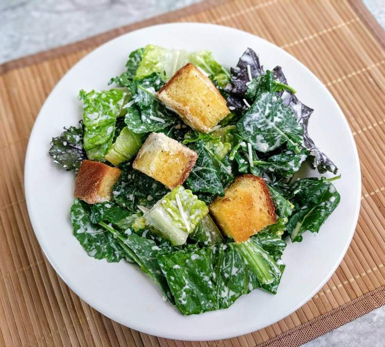Eggless Caesar Salad Recipe Step By Step Instructions
