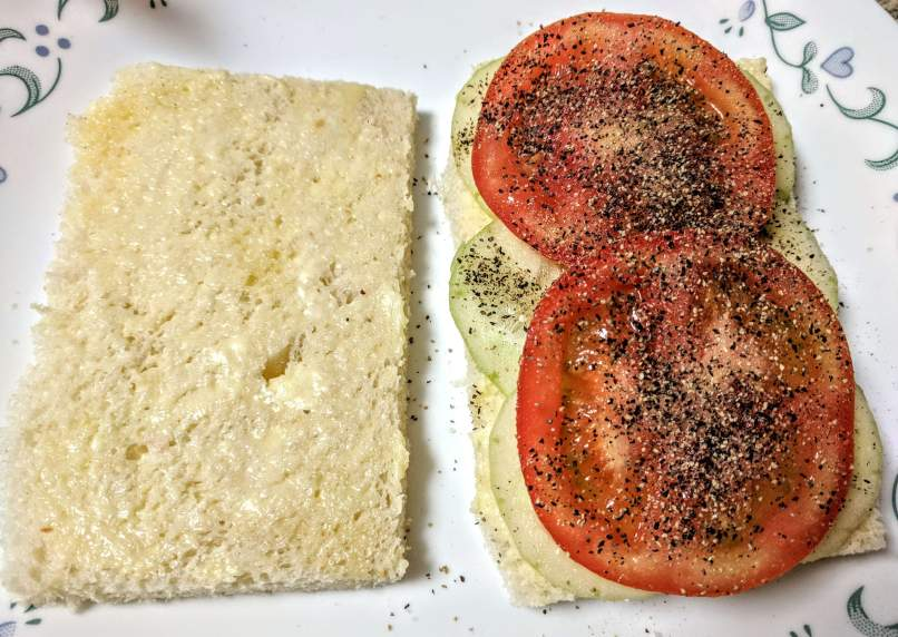 Tomato Cucumber Sandwich Recipe Step By Step Instructions 4