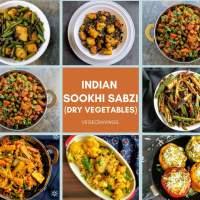 Indian Sabzi Recipes | 18 Dry Vegetables | Sookhi Sabji