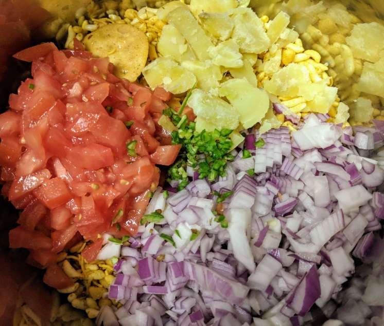 Bhel Puri Recipe Step By Step Instructions 2