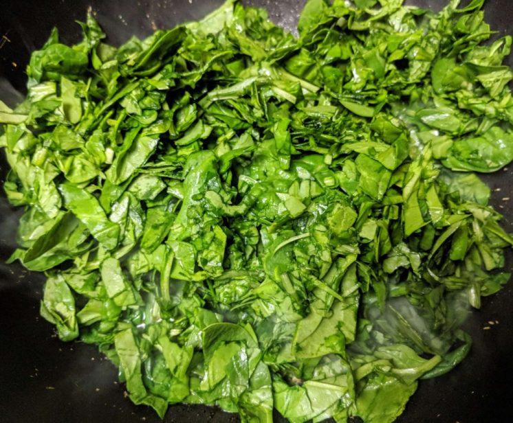 Palak Kadhi Recipe Step By Step Instructions 5