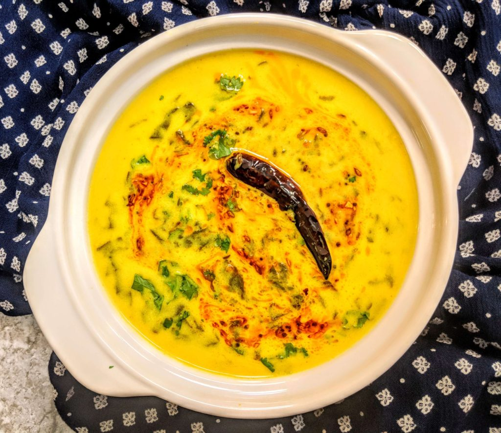 Palak Kadhi Recipe Step By Step Instructions