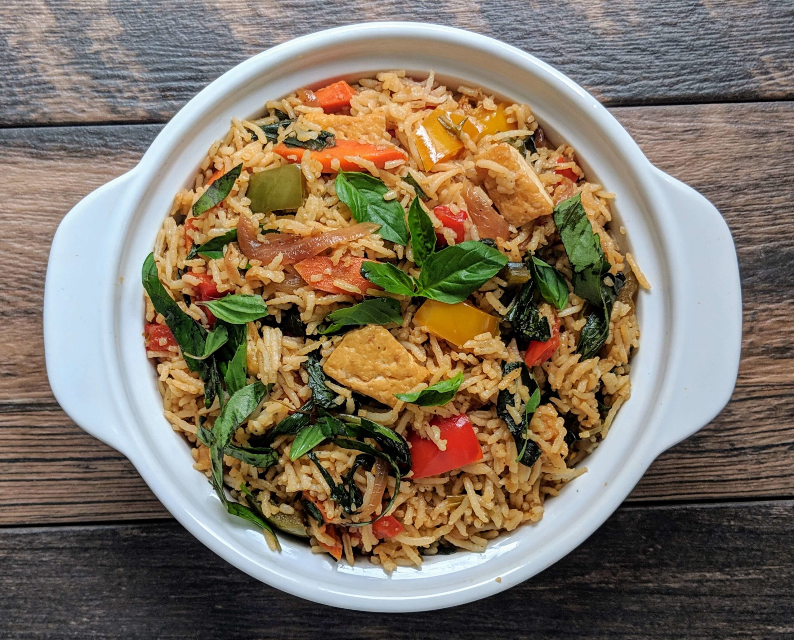 Thai Basil Fried Rice Recipe Step By Step Instructions