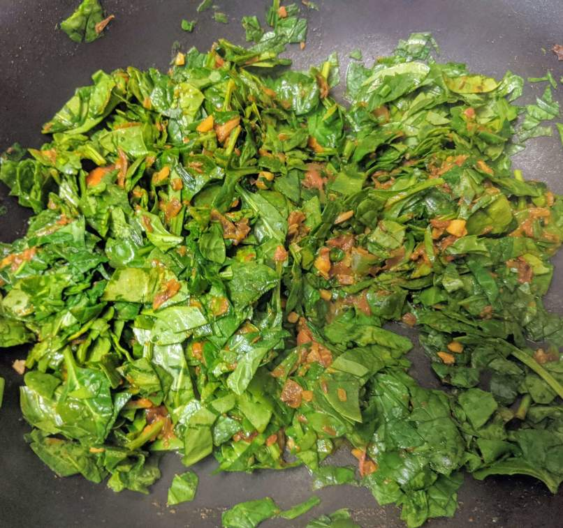 Palak Paneer Bhurji Recipe Step By Step Instructions 8