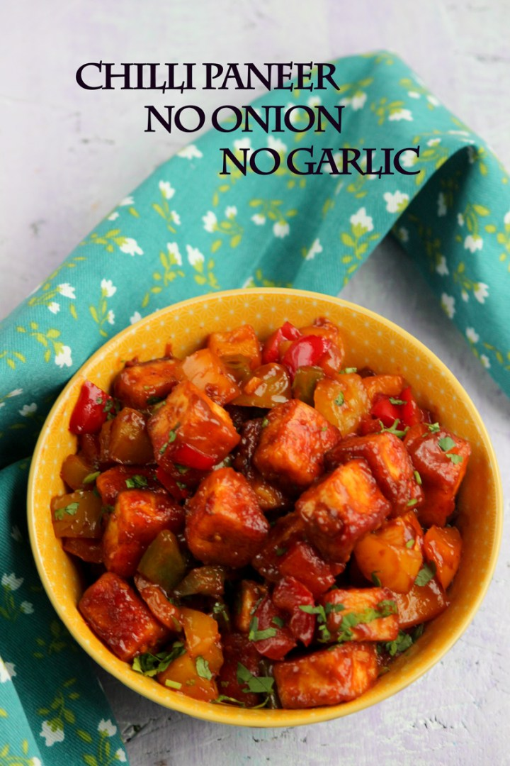 Chilli Paneer No Onion No Garlic Jain Chili Paneer Dry