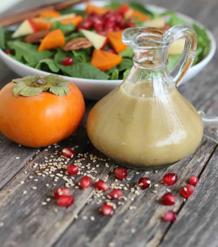 Sesame Dijon Dressing for Autumn Salad