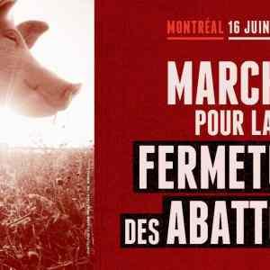 Marche pour la fermeture des abattoirs 2018