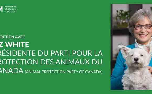 Entretien avec Liz White, Présidente du Parti pour la Protection des Animaux du Canada (Animal Protection Party of Canada)