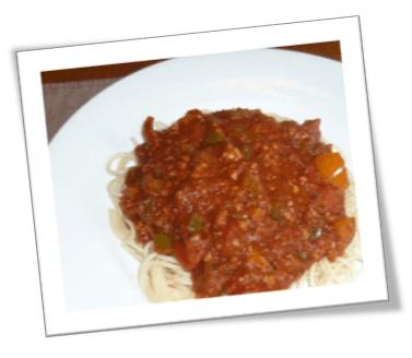Sauce bolognaise aux poivrons | Association végétarienne ...